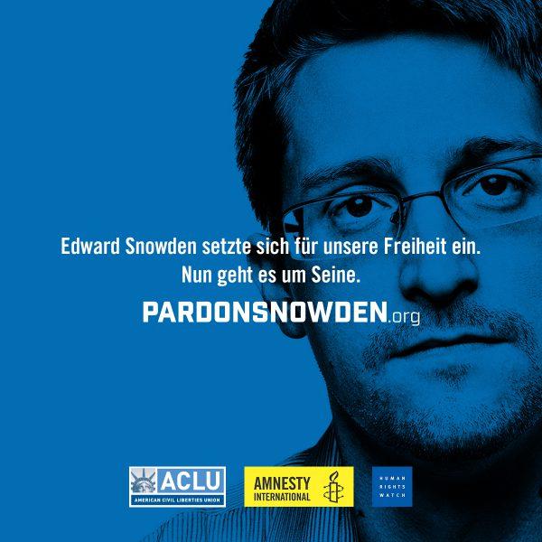 Präsident Obama soll Edward Snowden begnadigen 1 | © Amnesty International