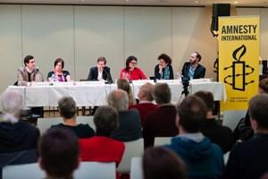 Thumbnail Podiumsdiskussion zur Nationalratswahl 18 | © Amnesty International/Christoph Liebentritt