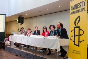 Thumbnail Podiumsdiskussion zur Nationalratswahl 07 | © Amnesty International/Christoph Liebentritt