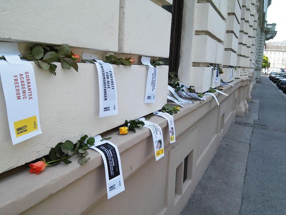 IranAktion17 Blumen   © AI Netzwerk Frauenrechte