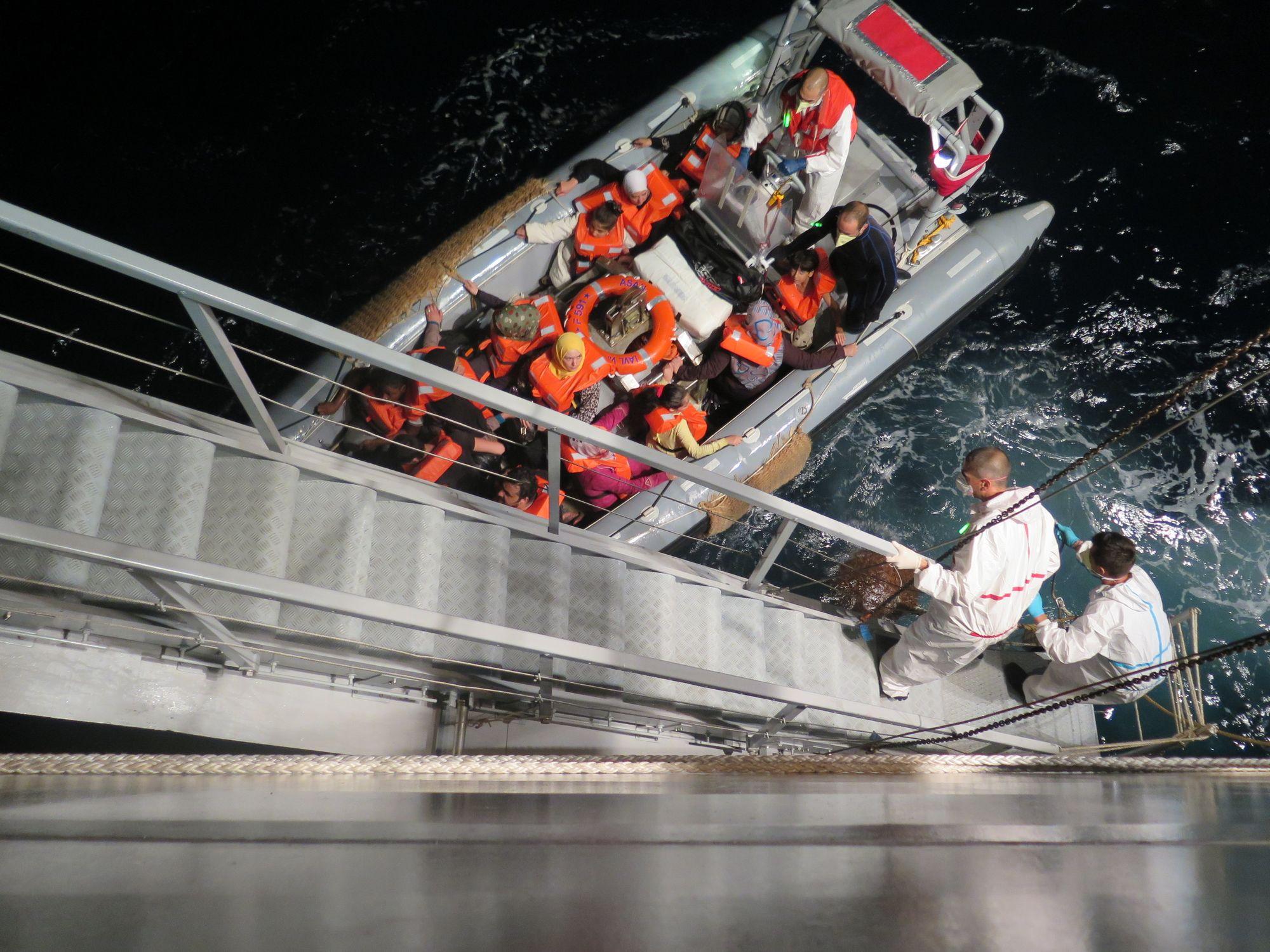 Seenotrettung im zentralen Mittelmeer, August 2014 | © Amnesty International
