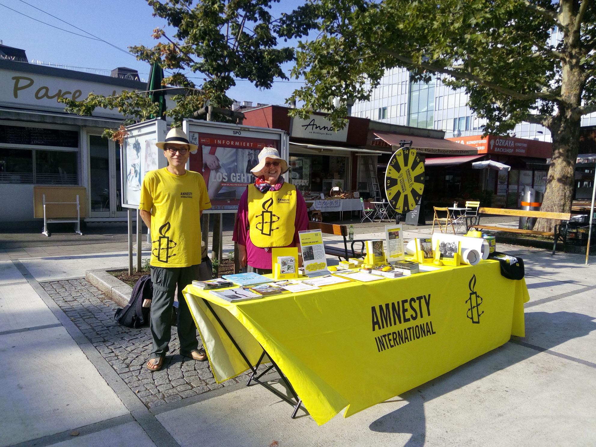 InfostandMeidling | © Amnesty International / NW Flucht & Migration