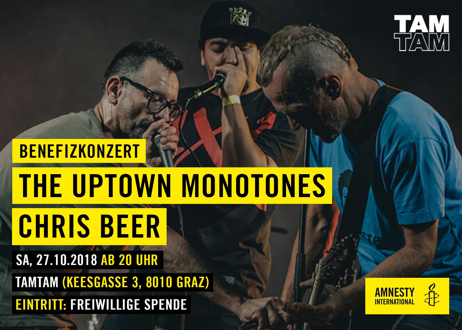 AI-TUM-Flyer-The-Uptown-Monotones | © Amnesty Gruppe Graz