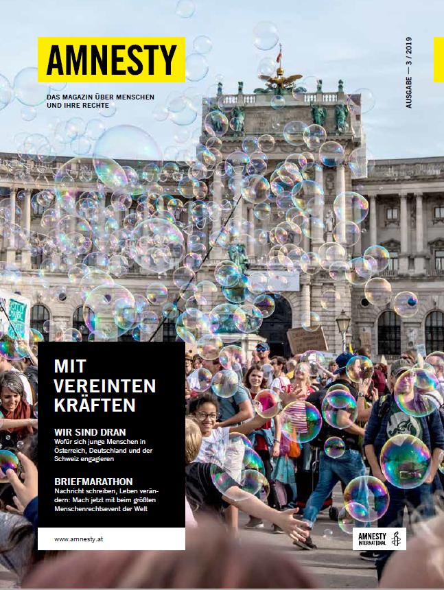 Amnesty-Magazin Cover-3-2019 | © Amnesty International