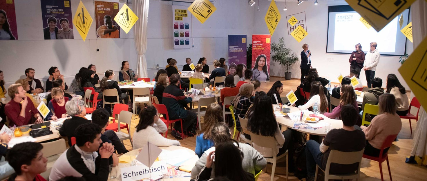 Amnesty-Briefmarathon-2019-Human-Rights-Challenge Impact-Hub Liebentritt Christoph 10.-Dezember-2019 | © Christoph Liebentritt/Amnesty International