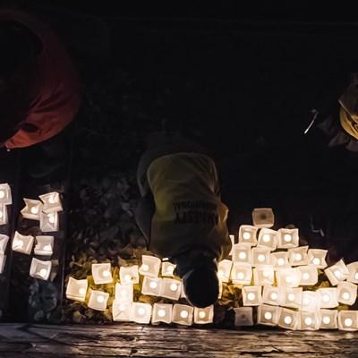 Aktion Lichtermeer - SOS Seenotrettung