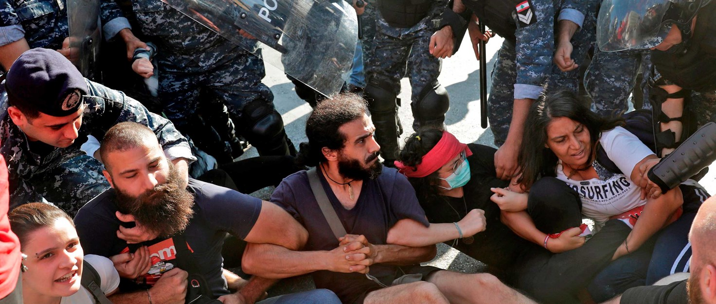 libanon-protese-hintergrund-armee-demonstration-räumung -AFP-via-Getty-Images 268461 | © AFP via Getty Images