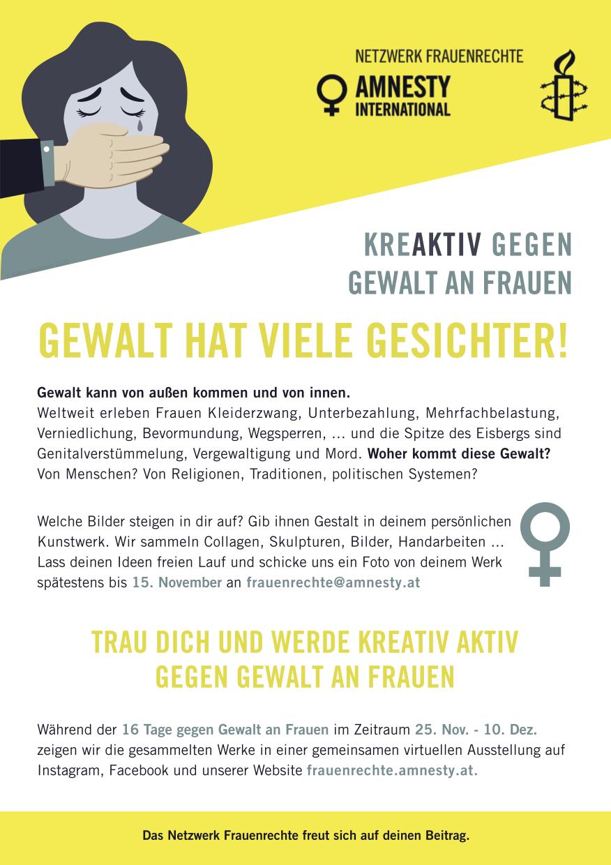 ViolenceAgainstWomen-DE | © Design by Sahar Heumesser, Amnesty Netzwerk Frauenrechte