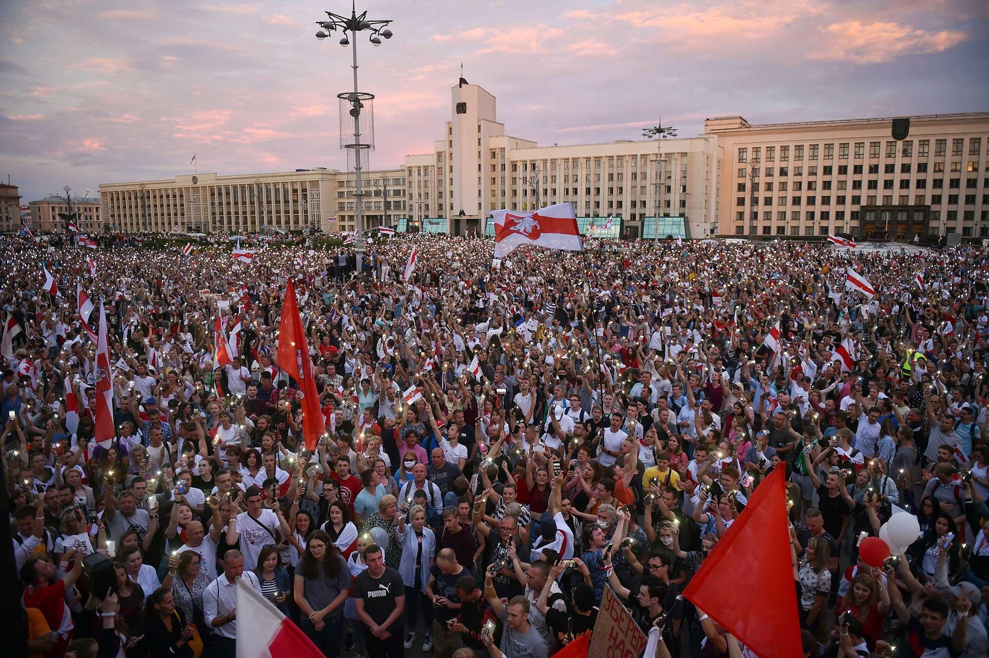 Wahlen Weissrussland Belarus Protest Gegen Lukaschenkos Wiederwahl Polizeigewalt 272634 AFP Via Getty Images
