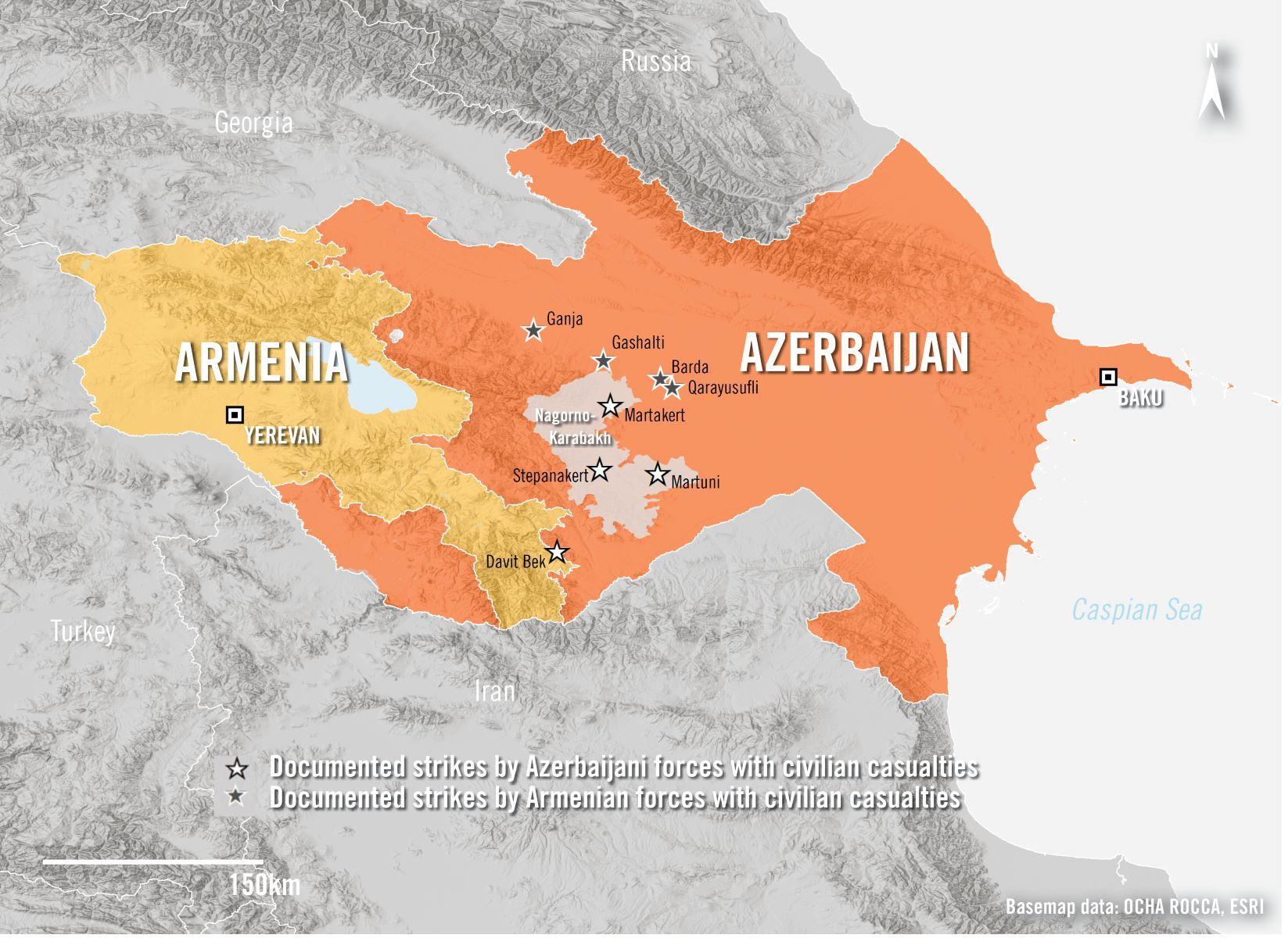 © Karte: Basemap data: OCHA, ROCCA, ESRI; Satellitenbild: Image: Google Earth © Maxar Technologies